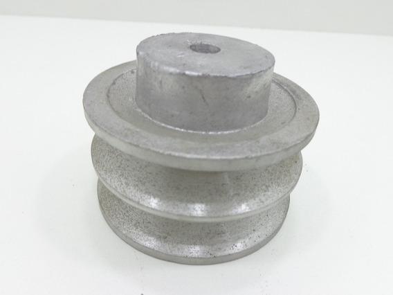 Polia De Aluminio 75 Mm 2b / Polia Para 2 Correias - 62808
