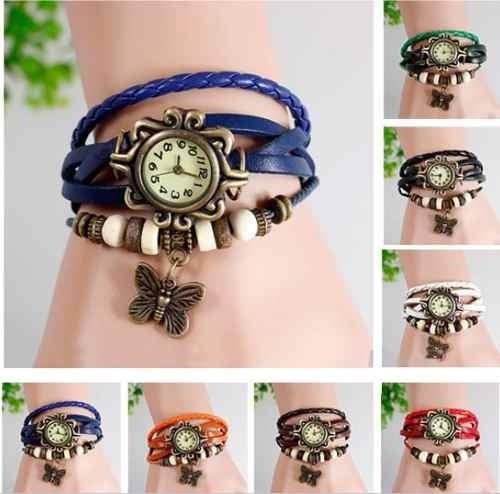 f914376817ea Reloj Pulsera Cuero Dije Para Dama Mujer Colores De Moda -   5.900 en Mercado  Libre
