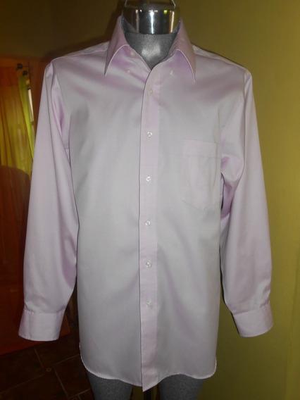 Camisa Eagle Talla L Rosa Claro 100% Algodon