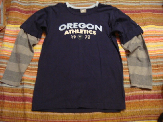 Nike Blusa Camiseta Manga Longa Azul Tam. 10 Anos Menino