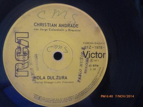 Vinilo Single De Christian Andrade --senti Mi Corazon( S71