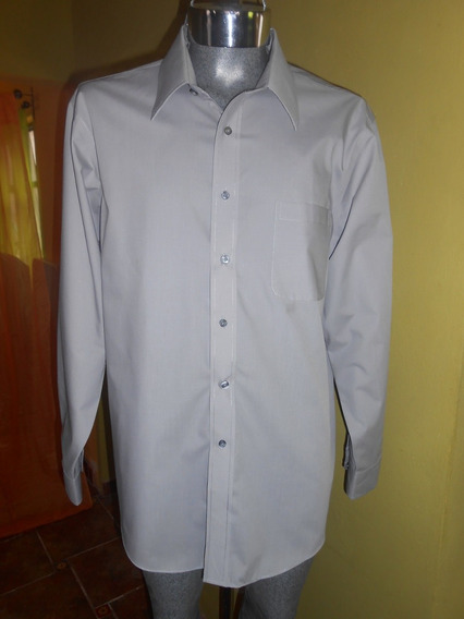 Camisa Croft & Barrow Talla Xl Gris