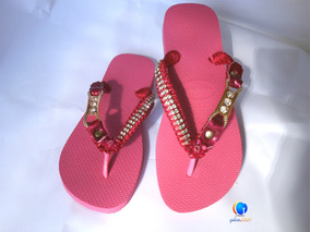 Havaianas Original Personalizadas Bordadas. Sandálias Strass