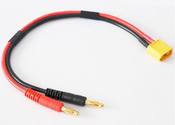 Xt60 Conector To Banana Plug 4mm Para Carregador Lipo Cabo