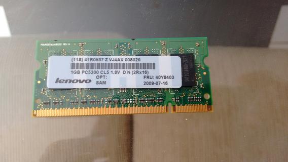 Memoria Ram 1 Gb Ddr2 - Pc 5300 - Lenovo - Notebook