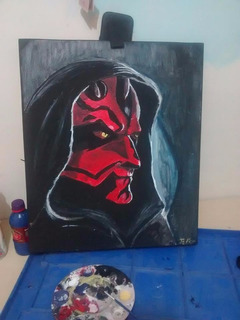 Cuadro Decorativo De Darth Maul