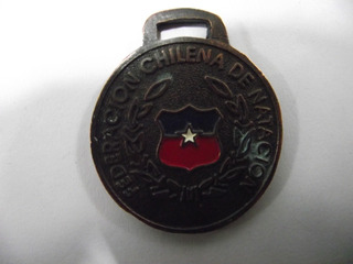 Llavero Medalla Federacion Natacion Chilena Cobre