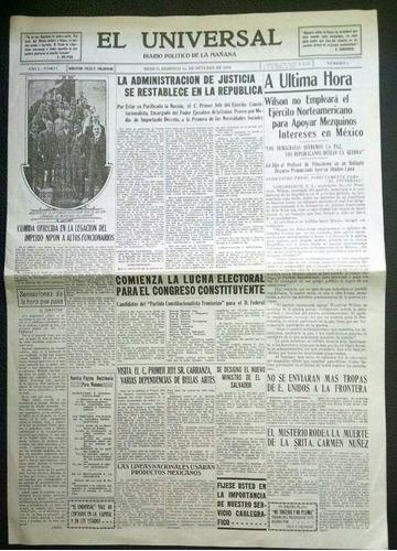 525c77fd75 Diario El Universal Número 1, Octubre De 1916 - $ 2,000.00 en Mercado Libre