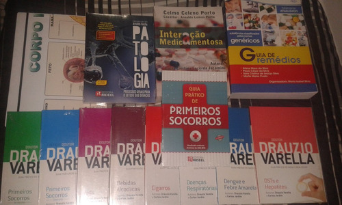 Três Livros + Atlas Corpo Humano + Coleção Drauzio Verella