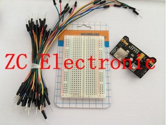 Kit Protoboard 830 + Regulador De Tensão + 65 Jumpers