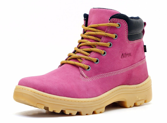 Coturno Estilosa Adventure Atron Shoes Couro - 256 Rosa