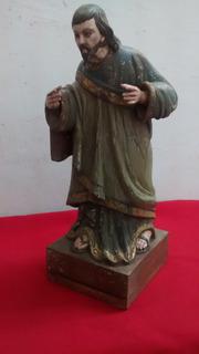 Escultura De San Jose En Madera