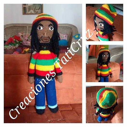Bob Marley 45cm Tejido 100% A Mano