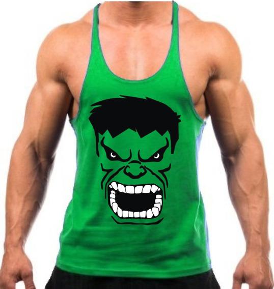Regata Super Cavada Musculação Hulk Os Vingadores