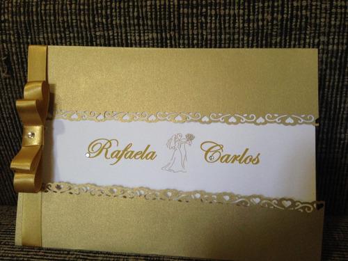 Imagem 1 de 3 de Convites De Casamento E Aniversários. Preço De 10 Unidades