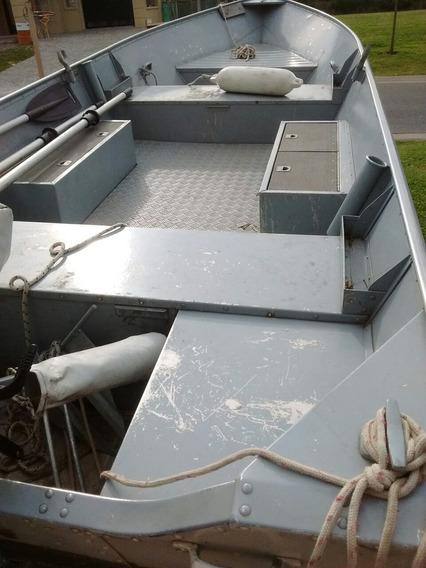 Bote De Aluminio Levefort Naval Motor 510 Excelente Estado.