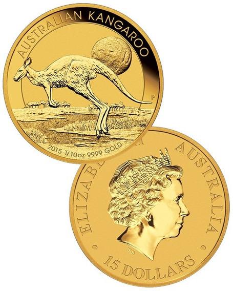 Estucheaustralia-canguro Lunar 3,12g. De Oro En Capsula