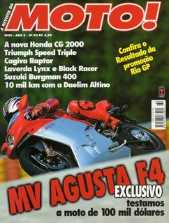 Moto! N°60 Mv Agusta F4 Honda Cg Cagiva Raptor Triumph Speed