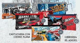 Cartuchera Plana Con Cierre Hot Wheels Canopla Vengadores