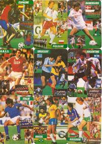 1986 Coleção Completa 24 Cards Copa Do Mundo Raro Futebol