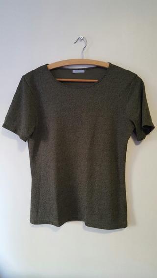 Blusa Camiseta Feminina Cortelle Verde Escuro