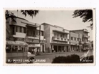 Cartao Postal Rua Marechal Floriano - Santo Angelo - Rs