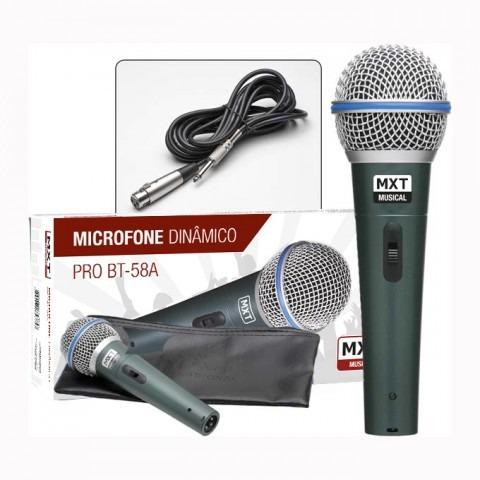 Microfone Dinâmico Com Cachimbo,estojo E Cabo - Mxt Btm-58a