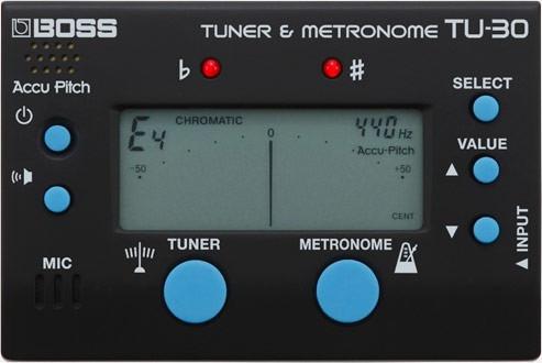 Afinador Cromático Digital Boss Tu30 Com Metrônomo Guitarra