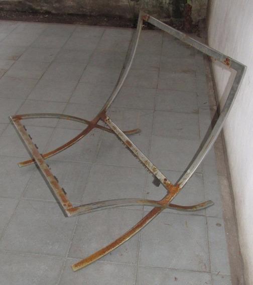 Antiguo Sillon Diseño, Art Deco, Hierro Cromado ! No Envio !