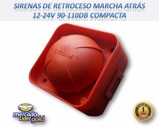Sirenas De Retroceso Marcha Atrás 12-24v 90-110db Compacta!!