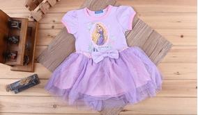 Vestido Princesa Rapunzel - Meninas