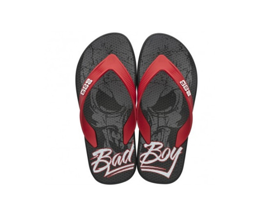 Chinelo Bad Boy Ipanema Preto Vermelho Frete Off 005025