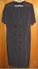 Elegante Vestido Negro De Dama Talla 48 Marca Tamuré