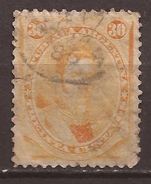 Argentina 1867 Gral Alvear 30 Cent Usados Con Arrugas