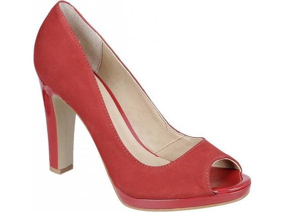 Sapato Feminino Luma Ventura Peep Toe Raphaella Booz