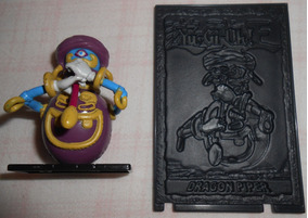 Yu-gi-oh Miniatura Dragon Piper 5cm + Card 3d N.55 Originais