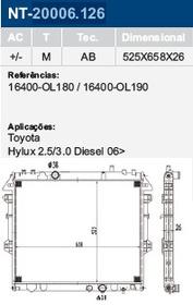 Radiador Água Do Motor Hilux 2.5 3.0 Diesel 2006 Em Diante