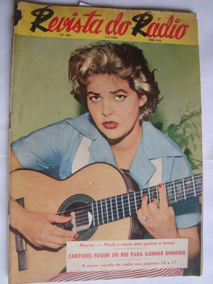 Revista Do Rádio 438 1958 Cantora Maysa Paulo Gracindo