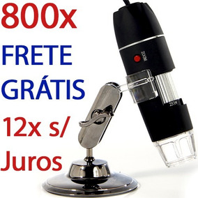 Microscópio Digital Usb 800x Hd Frete Grátis E 12x S/ Juros