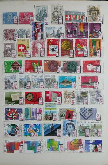 Suiça Acumulação 100 Selos Usados Diferentes 1960-2005