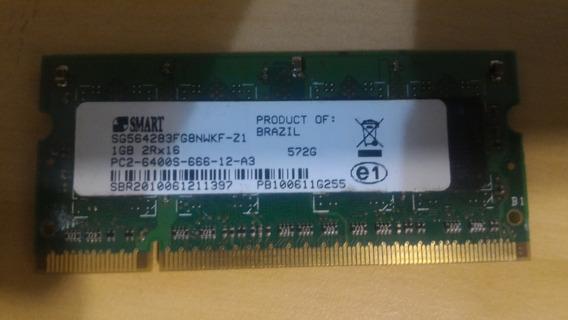 Memória 1gb Ddr2 800mhz Smart - Notebook