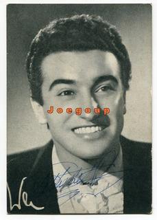 Foto Tarjeta Autografo Cantante Pablo Del Rio Publicidad
