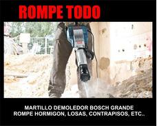Alquiler Martillo Demoledor Percutor Mjor $ Envio Rompe Todo