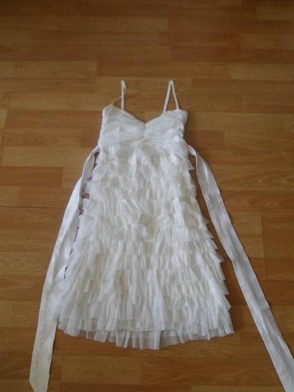 Vestido De Fiesta Blanco Talle S