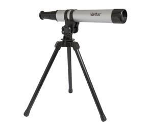 Telescópio Portátil C/ Ampliação 15x30mm E Tripe Vivtel30300