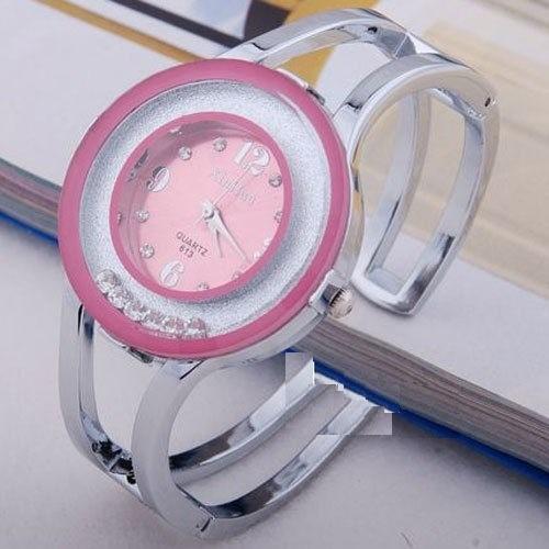 Reloj Pulsera De Cuarzo, Xinhua,rosa, Dama Acero Inoxidable.
