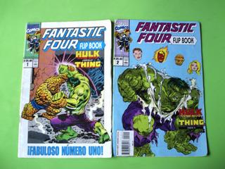 Fantastic Four Flip Book La Mole Vs Hulk Lote De 9 Comics