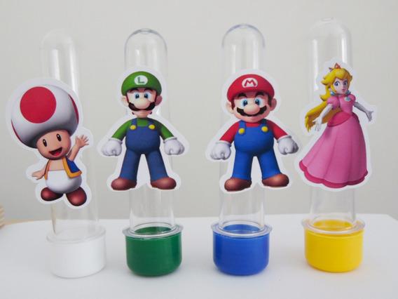 50 Mario Bros Recortes De 7,5cm Para Tubete Pronta Entrega