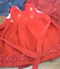 d72ba0827 Vestido De Corderoy Beba Nuevo - Ropa y Accesorios Rojo en Mercado ...