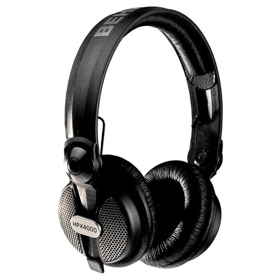 Fone De Ouvido Behringer Hpx4000 Preto Para Dj Over Ear